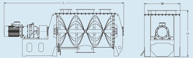 四川永通卧式螺带混合机结构图