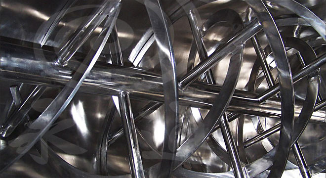 卧式螺带混合机内部螺带